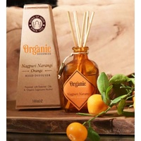 ORGANIC Goodness Reed Room Diffuser Orange - Nagpuri Nagangi in Amber Glass Jar