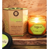ORGANIC Goodness Soy Candle Patchouli Vanilla in Amber Glass Jar