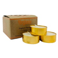 ORGANIC Goodness Tealight Candle ORANGE Nagpuri Nagangi 12 pack