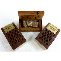 Rosewood Cutwork Box BROWN AMBER