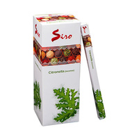 SIRO Incense CITRONELLA SQUARE Box of 25 8 stick packets