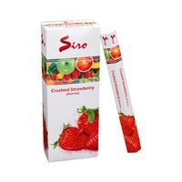 Siro Incense Hex CRUSHED STRAWBERRY 20 stick BOX of 6 Packets