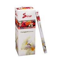 SIRO Incense FRANGIPANI SQUARE Box of 25 8 stick packets
