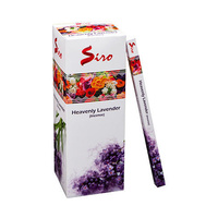 SIRO Incense HEAVENLY LAVENDER SQUARE Box of 25 8 stick packets