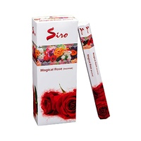 Siro Incense Hex MAGICAL ROSE 20 stick BOX of 6 Packets