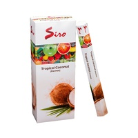 Siro Incense Hex TROPICAL COCONUT 20 stick BOX of 6 Packets