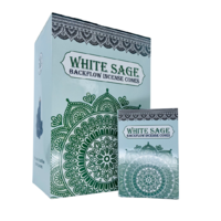 Sacred Tree Cones Backflow WHITE SAGE Box of 12 Packets