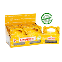 Satya Cones Backflow SANDALWOOD BOX of 6 Packets