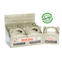 Satya Cones Backflow WHITE SAGE BOX of 6 Packets
