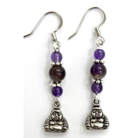 Charm Earrings AMETHYST BUDDHA