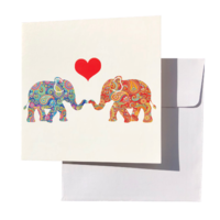Triskele Arts Cards HEART ELEPHANT