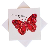Triskele Arts Cards JUST FOR YOU BUTTERFLY