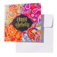 Triskele Arts Cards PAISLEY BIRTHDAY