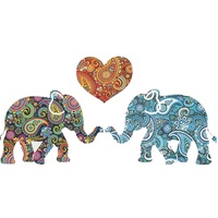 Triskele Arts Cards PAISLEY HEART ELEPHANTS