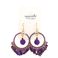 Undaunted Aurora Earrings Purple