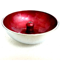 Aluminium Incense Dish RED Plain