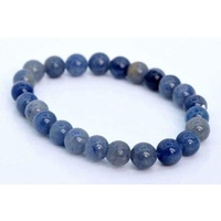 Crystal Bead Bracelet BLUE AVENTURINE 8mm Small