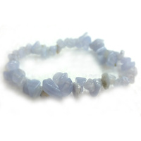 Crystal Chip Bracelet BLUE LACE AGATE