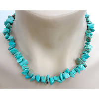 Crystal Chip NECKLACE BLUE HOWLITE Chunky