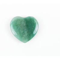 Carved Crystal PUFF HEART New Jade 40mm