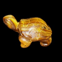 Carved Crystal TURTLE Tiger Eye 50mm