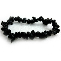 Crystal Chip Bracelet BLACK OBSIDIAN