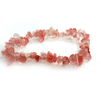 Crystal Chip Bracelet CHERRY QUARTZ