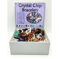 Crystal Chip Bracelet DISPLAY SET w 3 x 20 bracelets with no tags