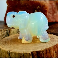 Carved Crystal Elephant GYRASOL