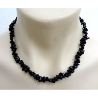 Crystal Chip Necklace BLACK OBSIDIAN Regular