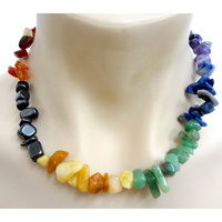 Crystal Chip Necklace CHAKRA Chunky