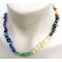Crystal Chip Necklace CHAKRA Regular - no tag