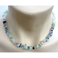 Crystal Chip Necklace FLUORITE Regular