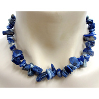 Crystal Chip Necklace SODALITE Chunky