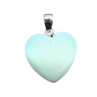Carved Crystal Pendant Heart GYRASOL plain 3CM Large