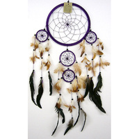 Dream Catcher PURPLE BROWN Large