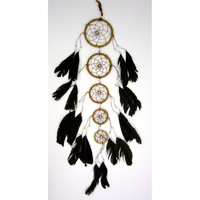 Dream Catcher LEATHER 5 CIRCLE BROWN