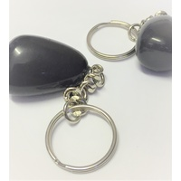 Key Chain BLACK OBSIDIAN nugget