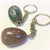 Key Chain MIXED AGATE nugget