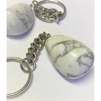 Key Chain WHITE HOWLITE nugget