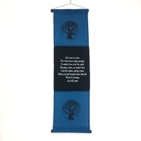 Hanging Wall Banner TREE OF LIFE Blue
