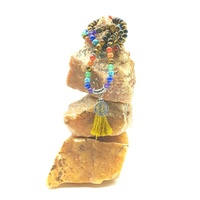 Mala Necklace CHAKRA & TIGER EYE Tree of Life