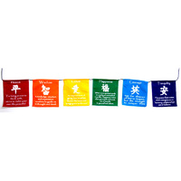 Prayer Flags SYMBOLS VIVID Small 6