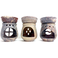 Soapstone OIL BURNER Small 3.5 inch BEIGE - Set of 6