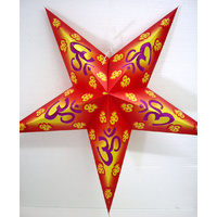 Star Hanging Lantern RED YELLOW OM