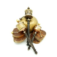 Tibetan Metal PRAYER WHEEL with WOODEN HANDLE XL