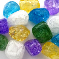 Tumbled Stones 200g CRACKLE QUARTZ Bulk
