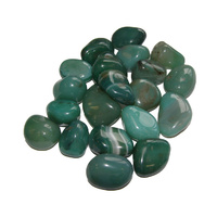 Tumbled Stones DYED AGATE GREEN 200g