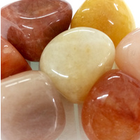 Tumbled Stones 200g ORANGE JADE Bulk