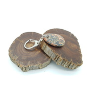 Zodiac Key Chain CANCER/Leopard Skin Jasper